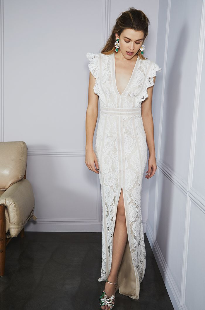 16 Chic Wedding Dresses From Bhldn Who What Wear