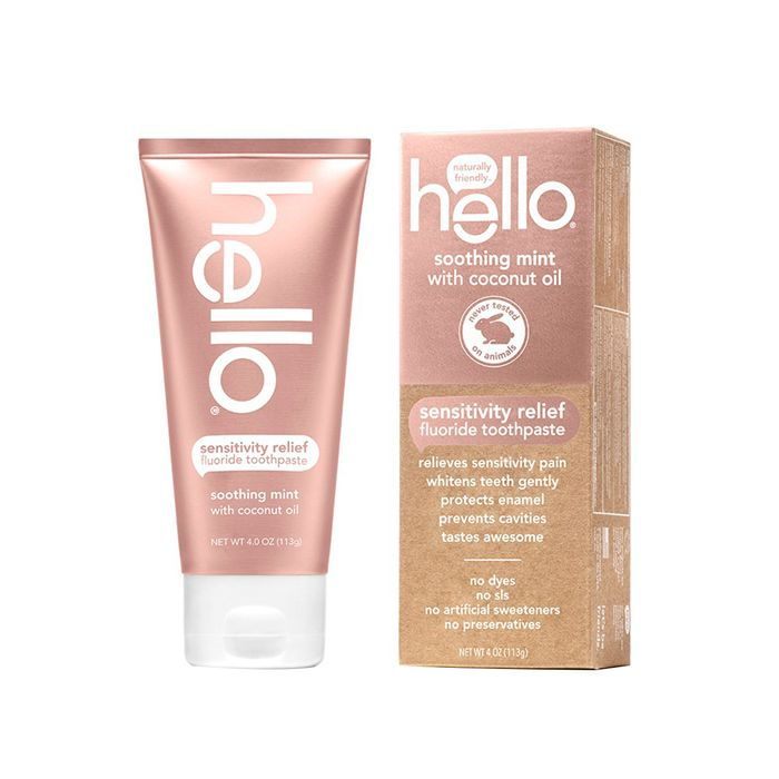 Sensitivity Relief Soothing Mint Fluoride Toothpaste by Hello