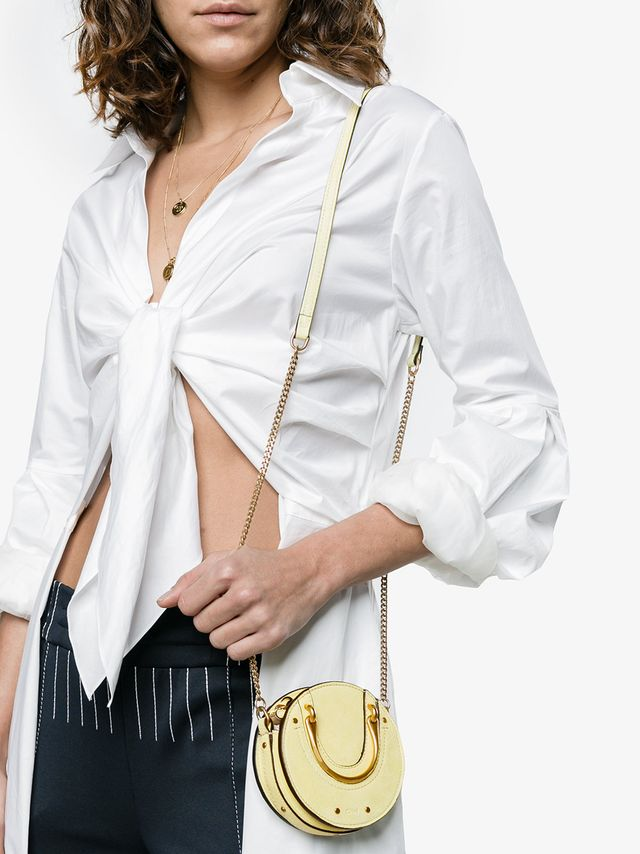Chloé Yellow Pixie Nano Suede Cross Body Bag