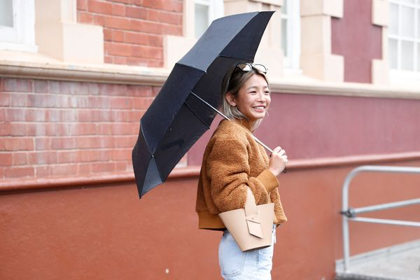 WHO: Yan Yan Chan STYLE TIP: Now here's how you can make the umbrellapart of the outfit.