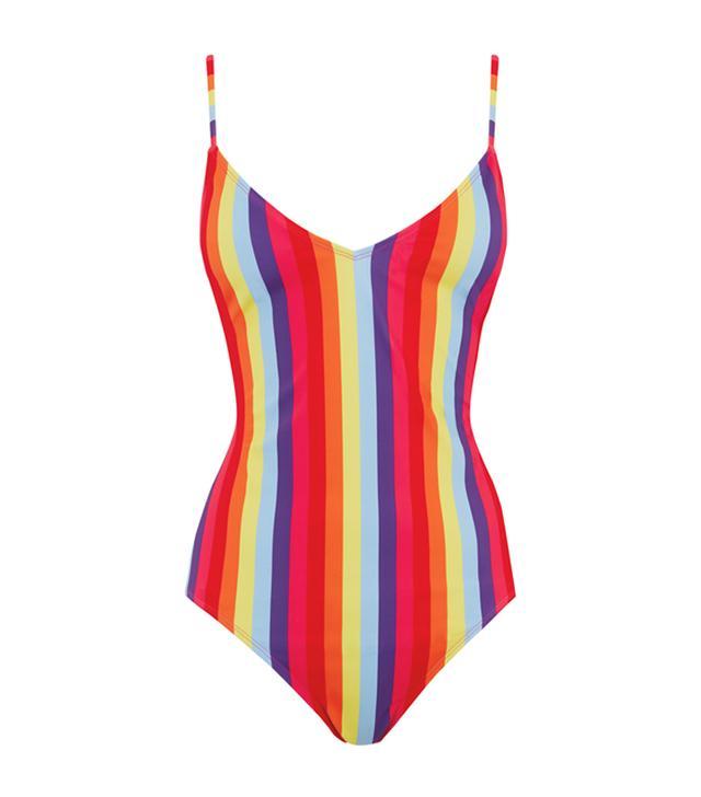 Warehouse Rainbow Stripe Swimsuit