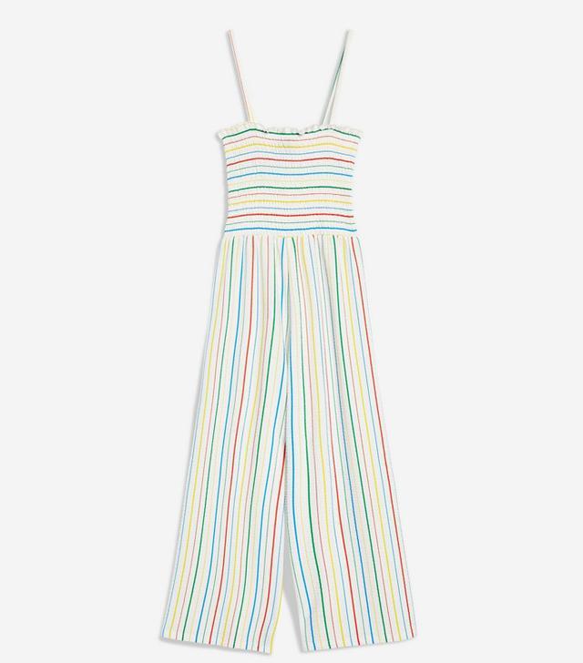 Topshop Rainbow Striped Jumpsuit