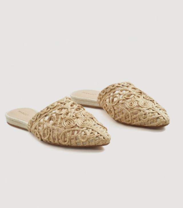 Mango Braided Design Mules