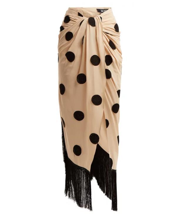 Pareo polka-dot sarong skirt