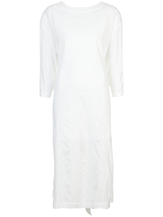 boat neck midi dress