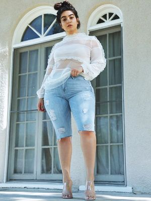 The 5 Brands With the Best Plus-Size Denim Shorts