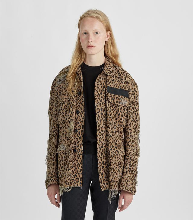 Shredded Leopard Abu Jacket Leopard Size: Small