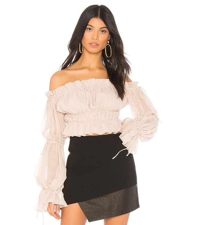 x REVOLVE Sands Top in Beige. - size L (also in S)