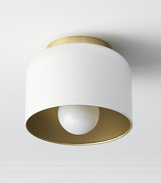 bell white flush mount light