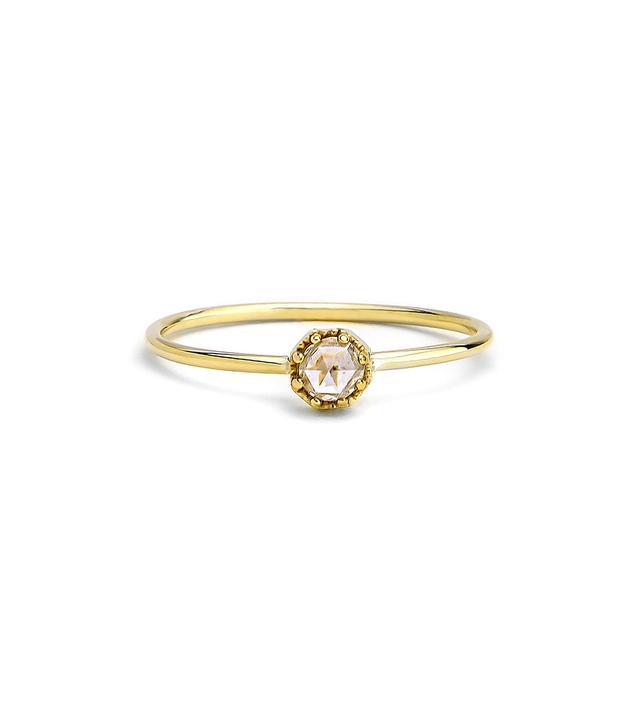 Grace Lee Petite Crown Bezel Diamond Ring