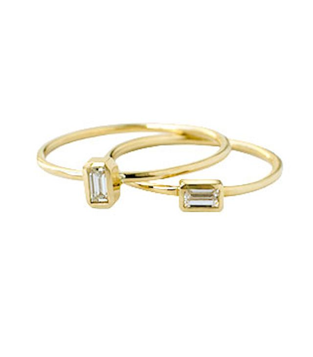 Grace Lee Petite Baguette Ring