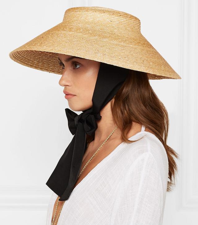 Gucci Grosgrain-Trimmed Straw Hat
