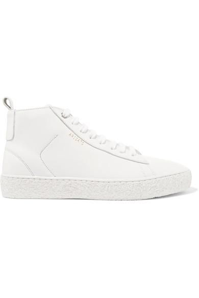 Court Leather High-top Sneakers