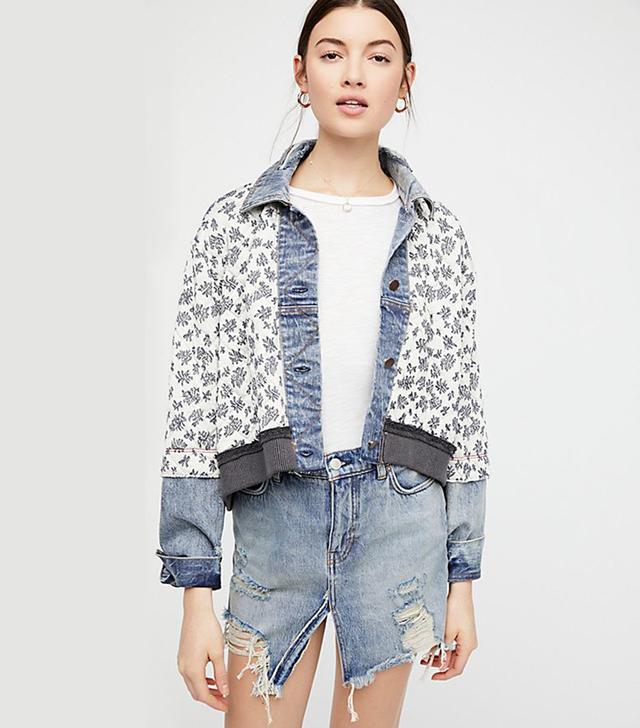 Ditsy Denim Jacket by Free People