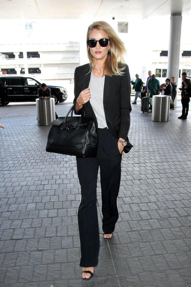 Airport outfits Rosie Huntington-Whiteley
