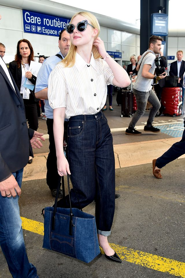 Airport outfits Elle Fanning
