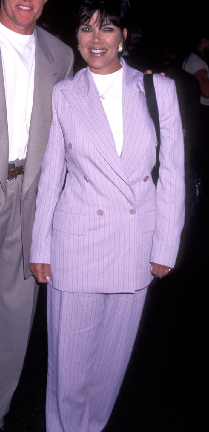 Kris jenner style: lavender suit
