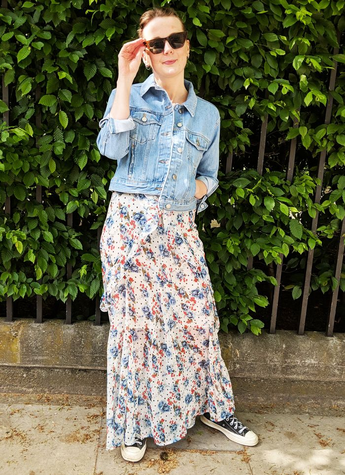 How to dress down a dress: floral Topshop