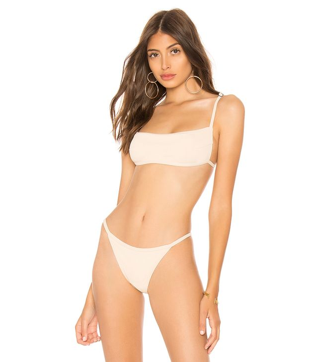 Chromat Skim Bikini Top