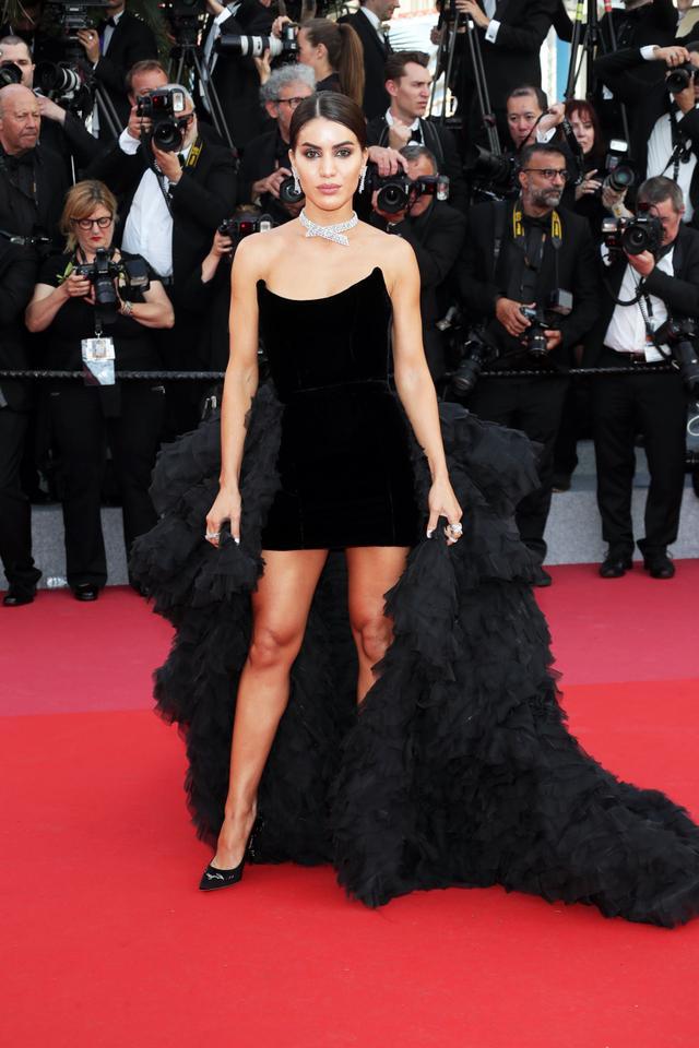WHO:Camila Coelho WEAR: Custom Ralph & Russo couture dress; Messika jewelry