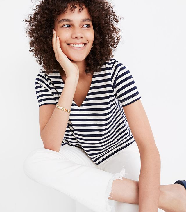 Madewell Setlist Boxy Top in Marton Stripe