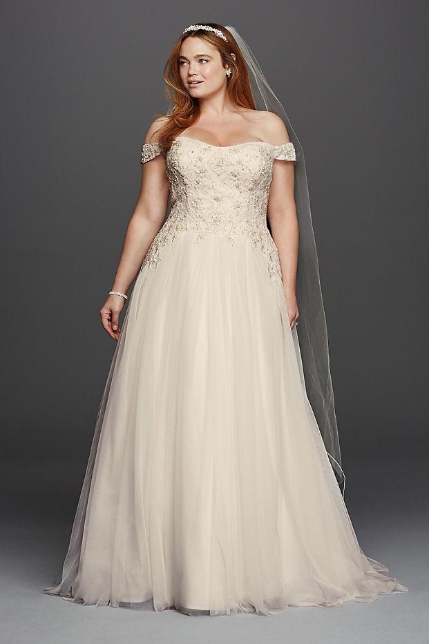 Oleg Cassini Tulle Wedding Dress