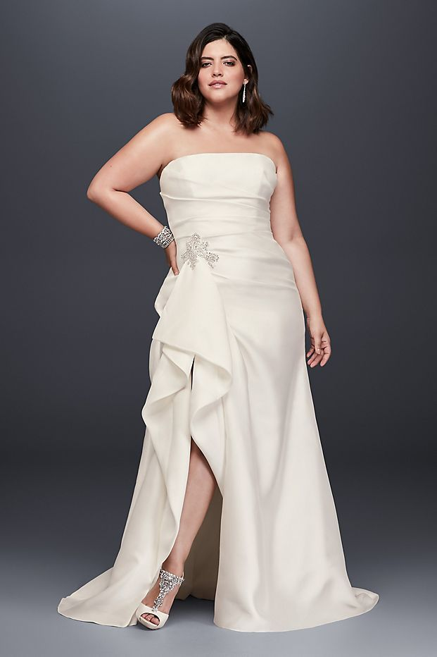 Mikado Wedding Dress With Slit Skirt