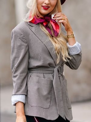 The Most Classic Way to Tie a Silk Scarf