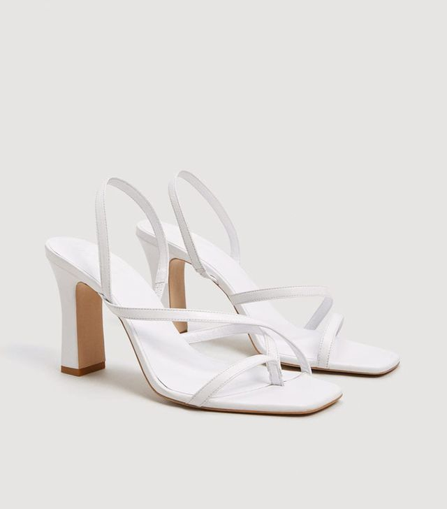 Mango Leather Wrap Sandals