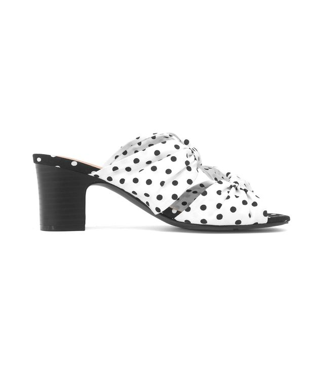 Poppy Polka Dot Bow Two Band Heeled Pumps