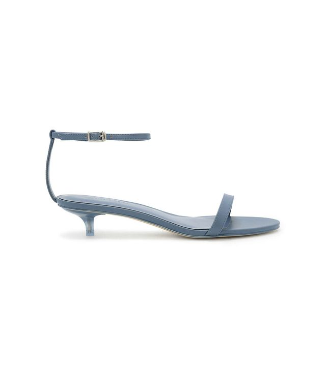 Charles & Keith Ankle Strap Kitten Heel Sandals