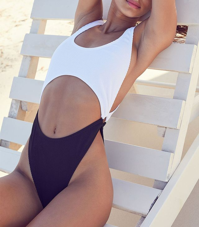 Peek-A-Boo Ring One-Piece Swimsuit