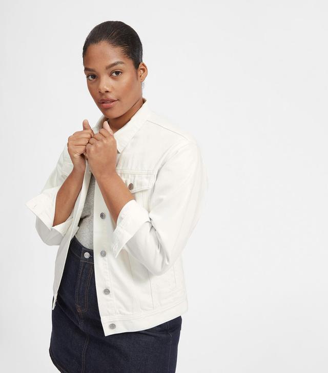 Women's Denim Jacket by Everlane in Bone, Size S