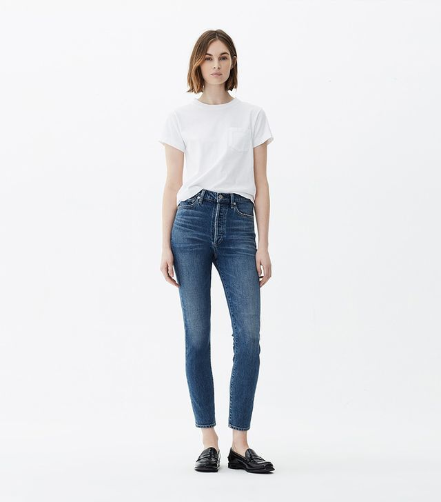 Citizens of Humanity Olivia High Rise Slim Ankle Jeans in Solo