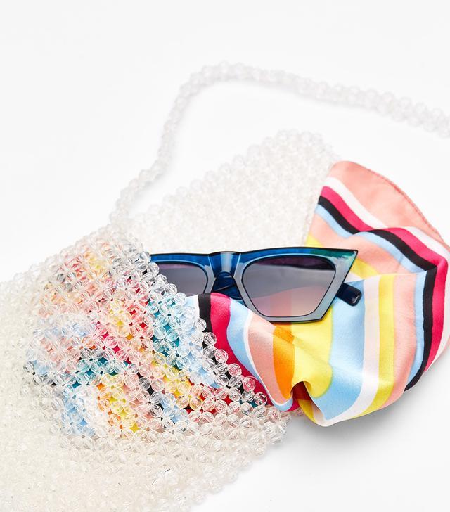 Bershka Transparent Beaded Bag