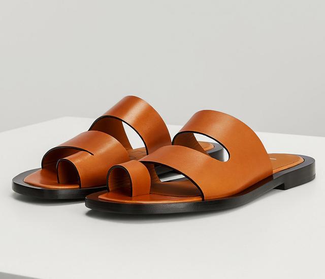 Joseph Leather Santorini Slides