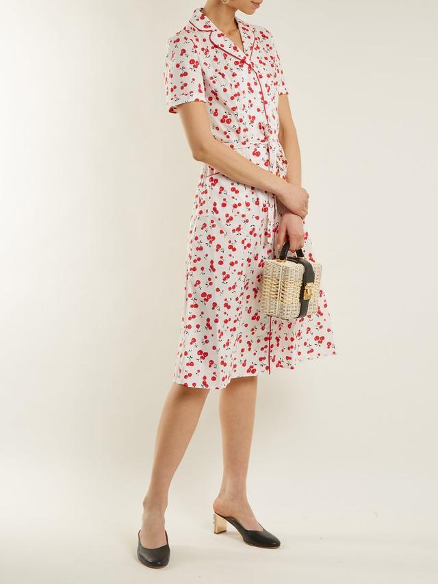 Maria cherry-print cotton-blend dress