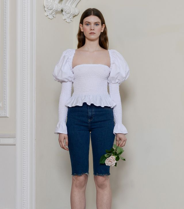 Olivia Rose Esmerelda Top in White