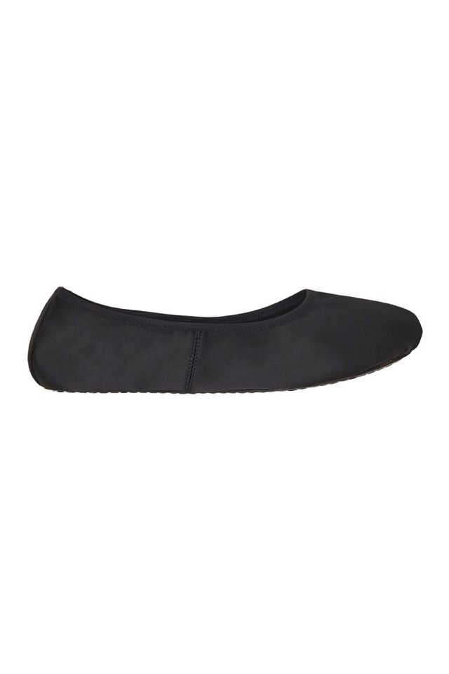 Macgraw Satin House Slipper in Black