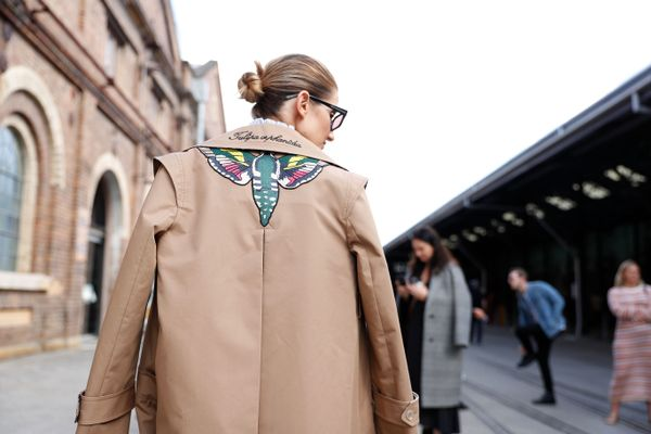 WHO: Kate Waterhouse STYLE TIP: Your favourite trench gets an elevated upgrade with edgy embellishing.