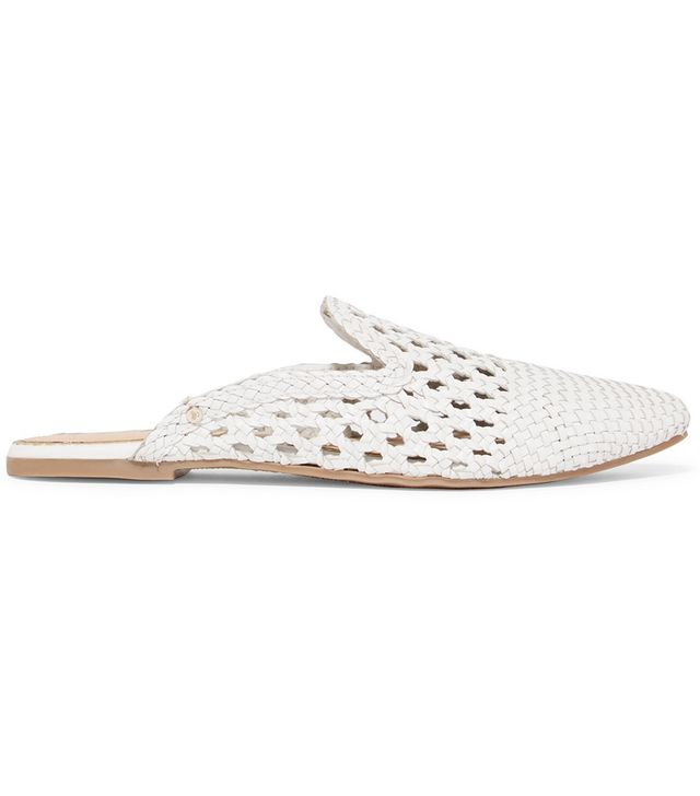 Navya Woven Leather Slippers