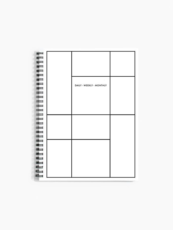 Daily Weekly Monthly Planner in Linework by Poketo