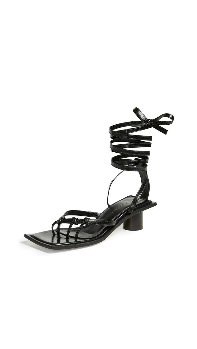 Knotted Mid Heel Sandals