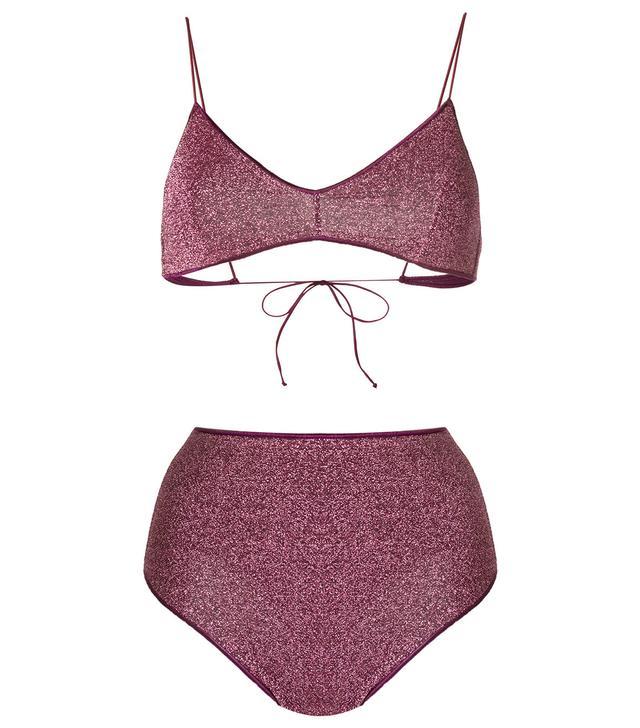 high waisted bikini set