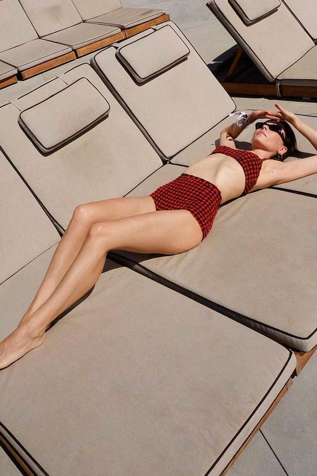 Summer swimsuit trends high waisted