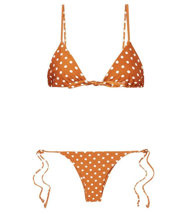 Polka-dot Triangle Bikini