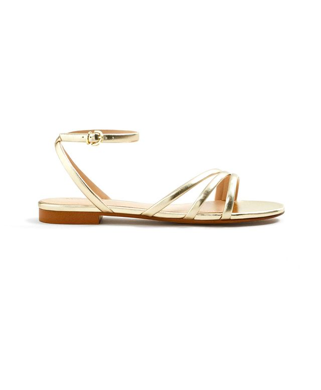 Mango Metallic Strap Sandals