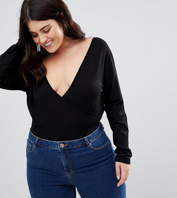 ASOS DESIGN Curve Body with Deep Wrap Front and Back
