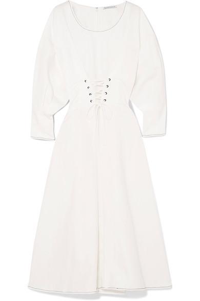 Irene Linen And Cotton-blend Midi Dress