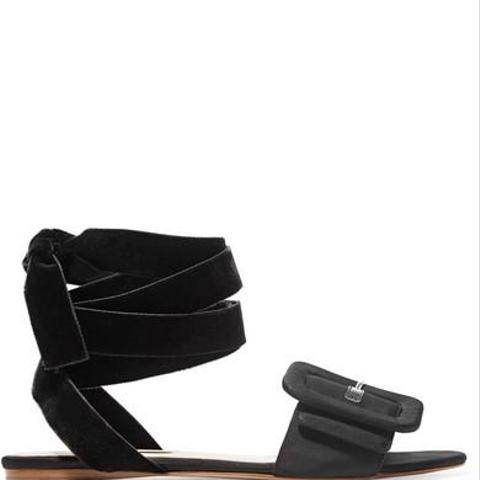 Jole Moire and Velvet Sandals